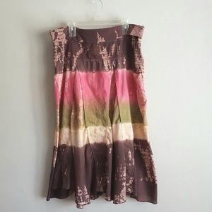 Torrid Tie Dye Boho Peasant Skirt Size 1